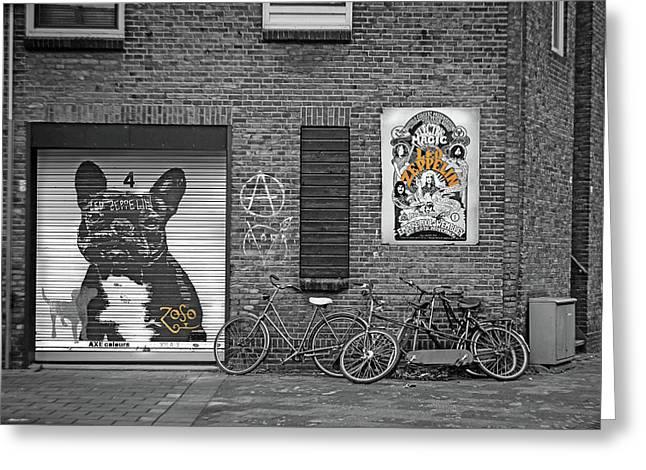 Black Dog Led Zeppelin Greeting Card