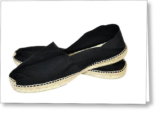 Black Espadrilles Greeting Card by Dutourdumonde Photography