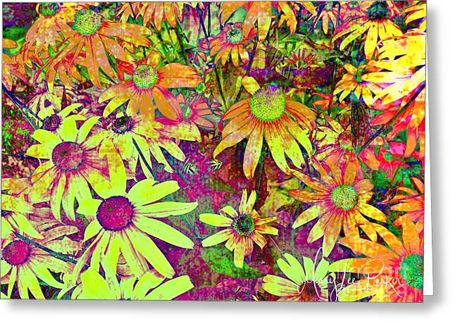 Black-eyed Susan   Abstract  Greeting Card