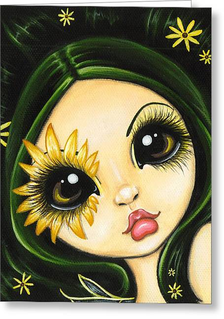 Black-eyed Susan Greeting Card by Elaina  Wagner