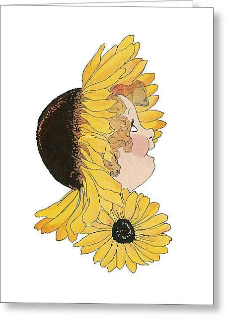 Black-eyed Susan Greeting Card by Roger Mullenhour