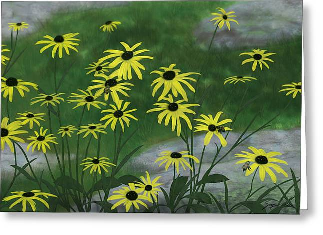 Black Eyed Susans 1 Greeting Card