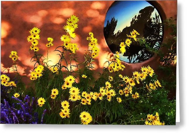 Greeting Card featuring the photograph Black-eyed Susans And Adobe by Paul Cutright