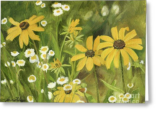 Black-eyed Susans In A Field Greeting Card