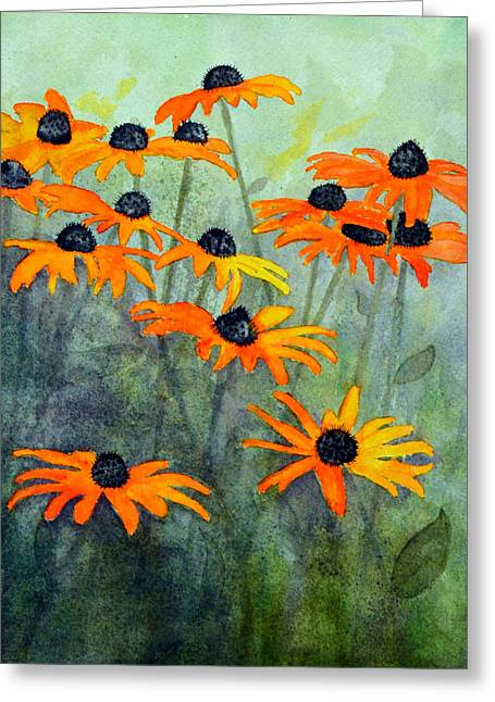 Black Eyed Susans Greeting Card by Moon Stumpp