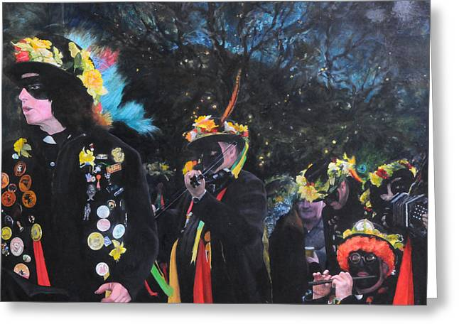 Black Face Mummers Greeting Card