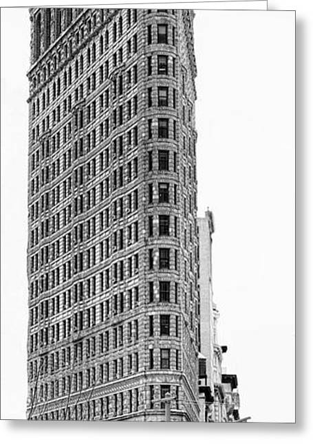 Black Flatiron Building II Greeting Card