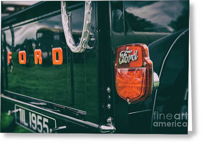 Black Ford Pick Up Greeting Card