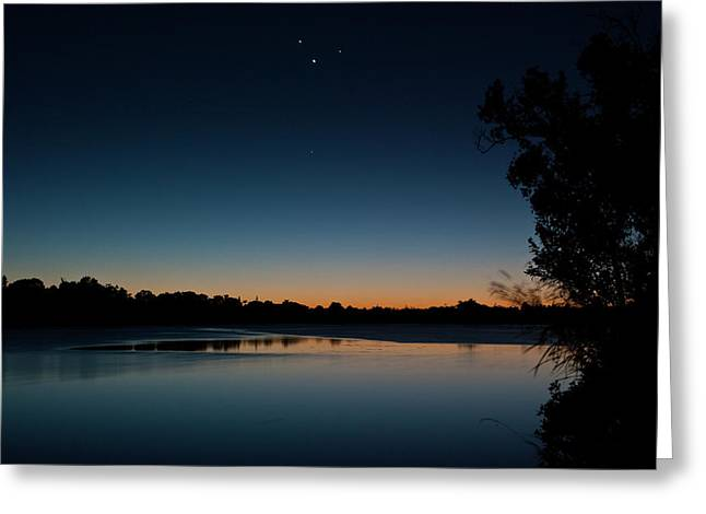 Greeting Card featuring the photograph Black Friday Conjunction by Odille Esmonde-Morgan