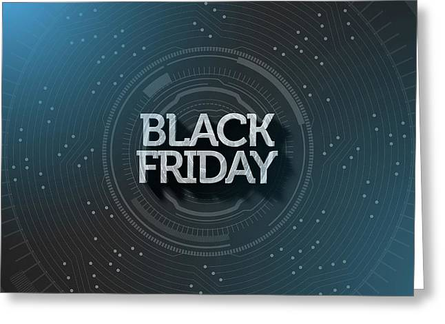 Black Friday Text On Black Greeting Card