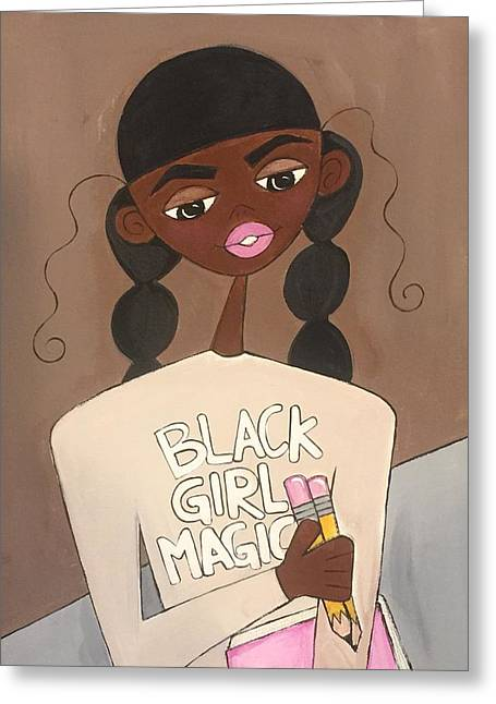 Black Girl Magic Greeting Card