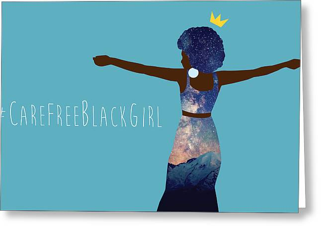 Black Girl Magic Carefree Greeting Card