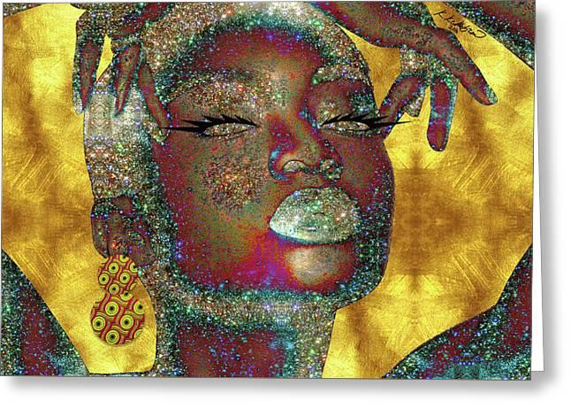 Black Girl Magic Greeting Card