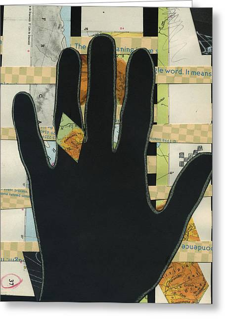 Black Hand Collage Greeting Card
