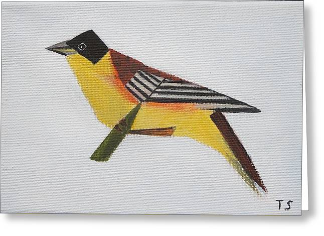 Black-headed Bunting Greeting Card