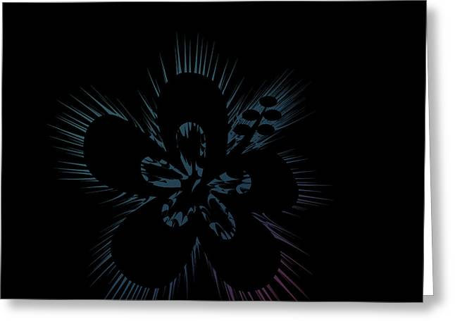 Black Hibiscus Greeting Card