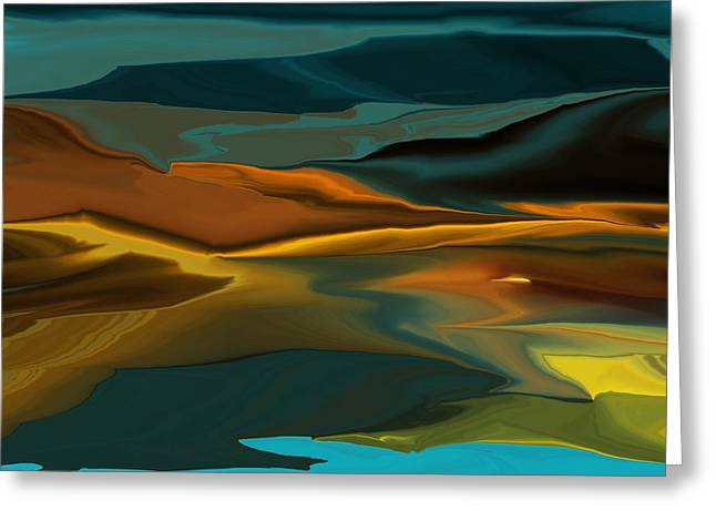 Black Hills Abstract Greeting Card by David Lane