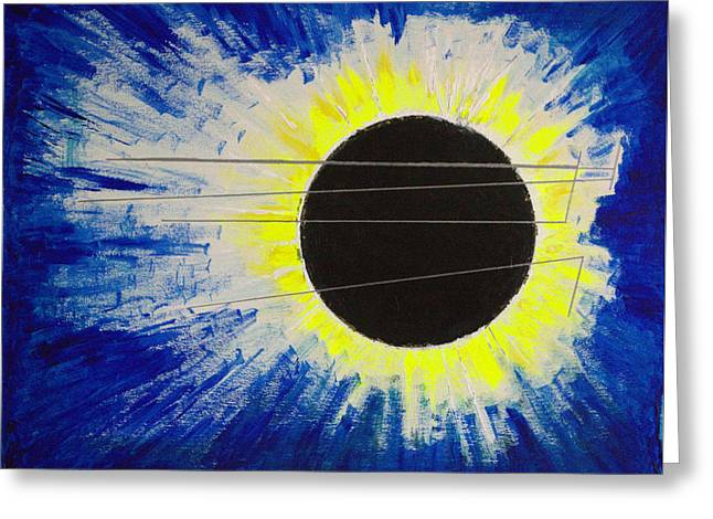Black Hole Blues Greeting Card