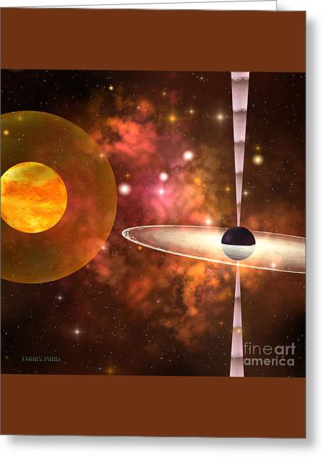Black Hole Greeting Card by Corey Ford