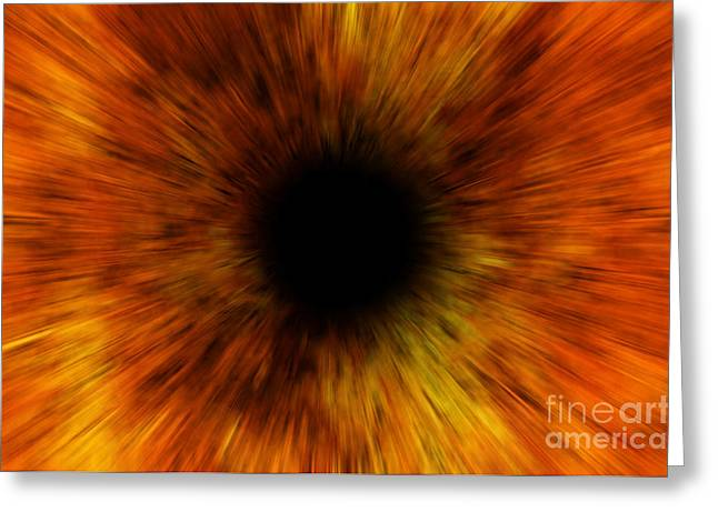 Black Hole Greeting Card by Michal Boubin