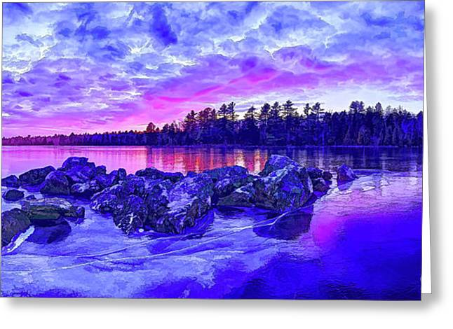 Black Ice At Twilight Greeting Card