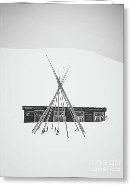 Black In White Greeting Card