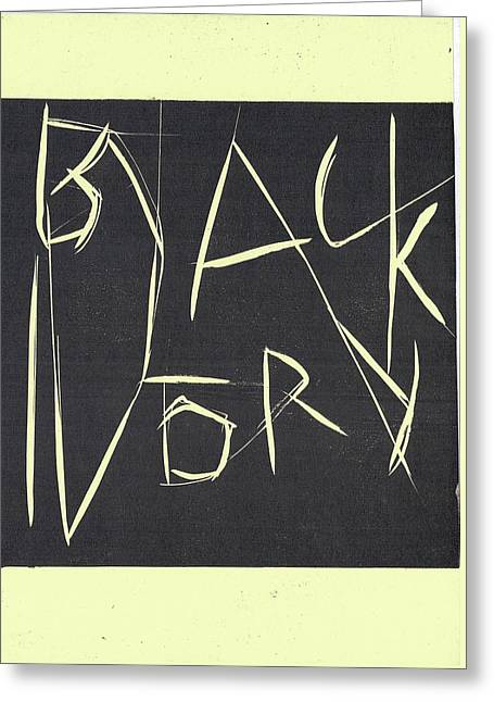 Black Ivory Title Page Greeting Card
