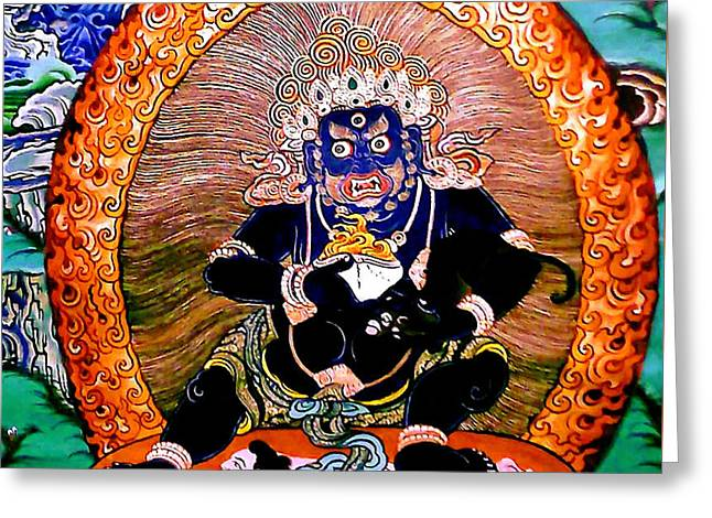 Black Jambhala  5 Greeting Card