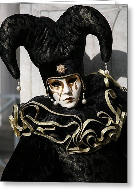 Black Jester Greeting Card