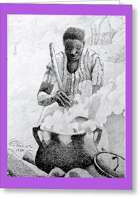Black Kettle Greeting Card by Charles  Thomas