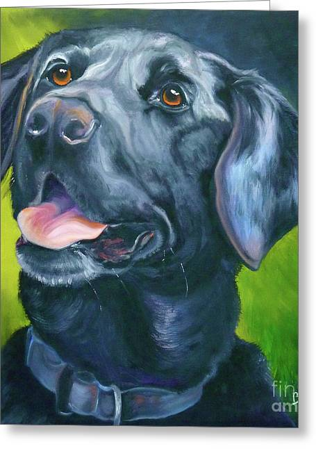 Retriever Prints Greeting Cards - Black Lab Forever Greeting Card by Susan A Becker