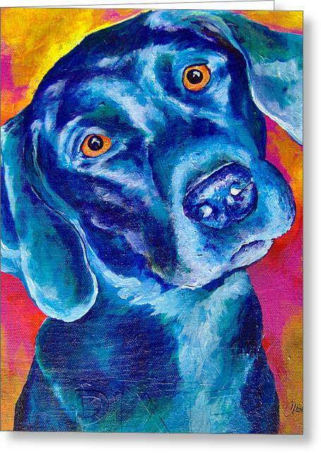 Black Lab Pop Art Greeting Card