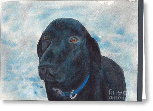 Black Labrador Retriever Our Boy Huck Greeting Card