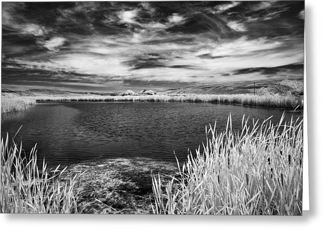 Black Lake On The Edge Greeting Card by Jon Glaser