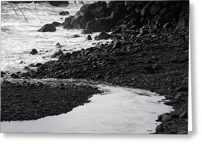 Black Lava Beach, Maui Greeting Card
