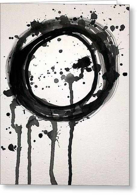 Black Licorice Lollipop Abstract Greeting Card