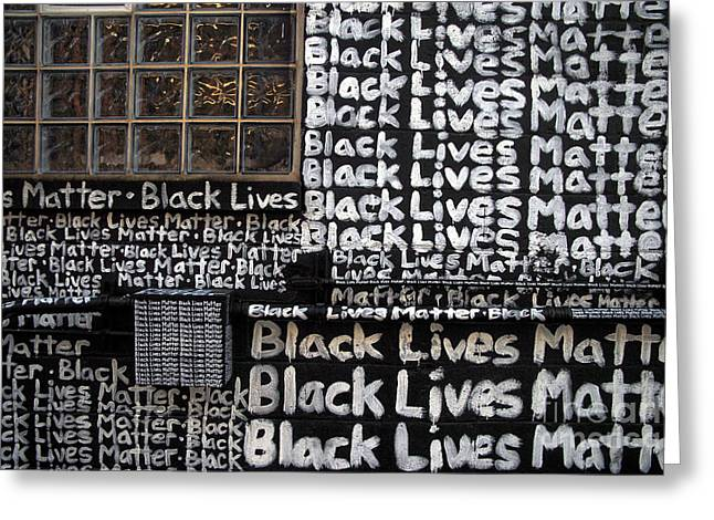 Black Lives Matter Wall Part 1 Of 9 Greeting Card
