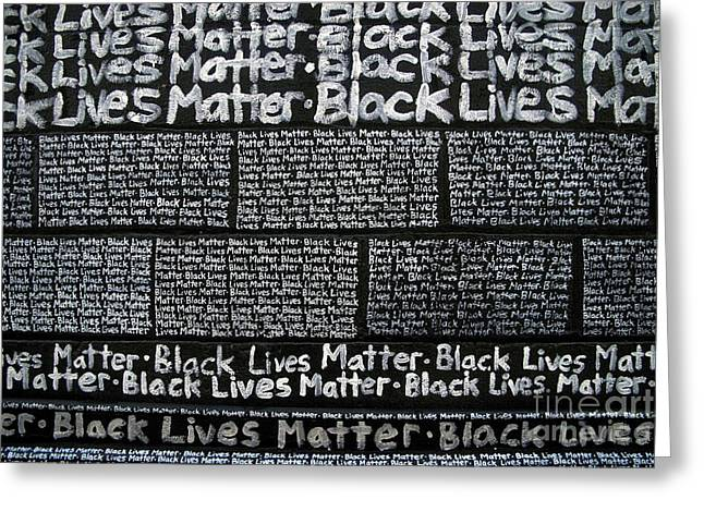 Black Lives Matter Wall Part 3 Of 9 Greeting Card