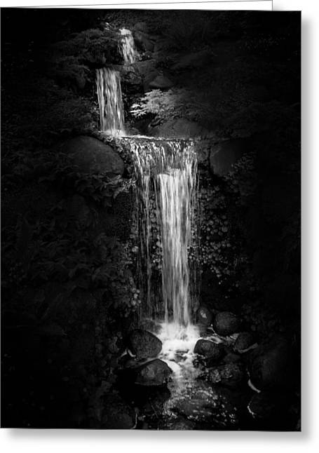 Black Magic Waterfall Greeting Card