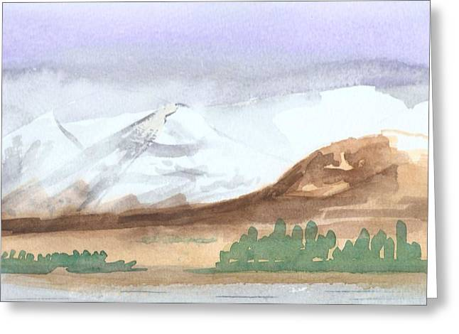 Black Mount Greeting Card by Jim Green
