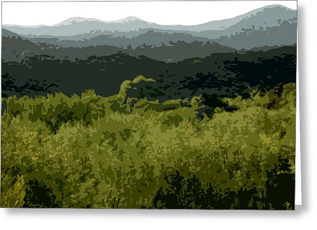 Black Mountains Greeting Card by John Scariano