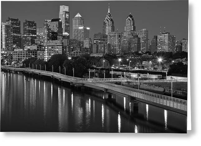 Black Night In Philly Greeting Card