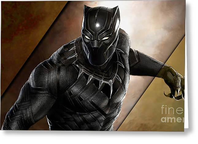 Black Panther Collection Greeting Card by Marvin Blaine