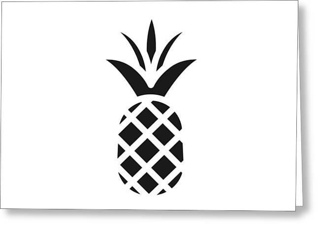 Black Pine Apple Greeting Card