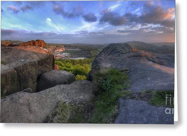 Black Rock 6.0 Panoramic Greeting Card