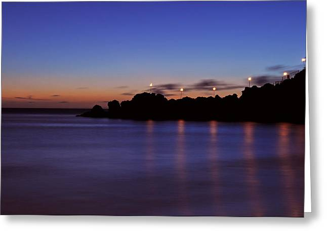 Black Rock Sunset Greeting Card by Kelly Wade