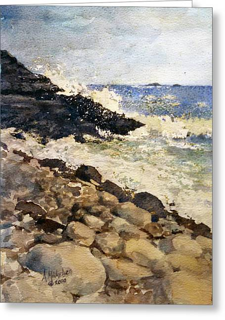 Black Rocks - Lake Superior Greeting Card