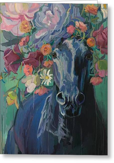 Black Rose Greeting Card by Kimberly Santini