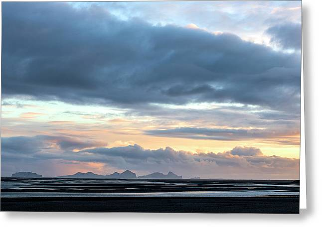 Greeting Card featuring the photograph Black Sand Sunset Iceland by Brad Scott