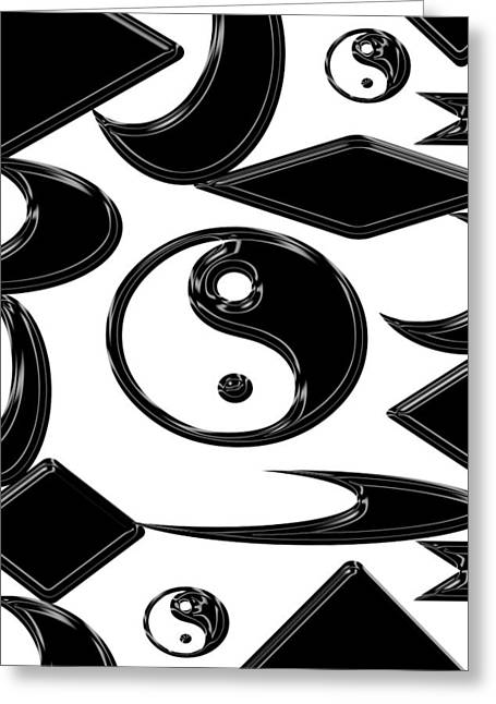 Yin Yang  Abstract Greeting Card by Aimee L Maher Photography and Art Visit ALMGallerydotcom